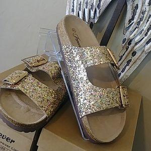 Birkin Style  Glitter Forever Sandals